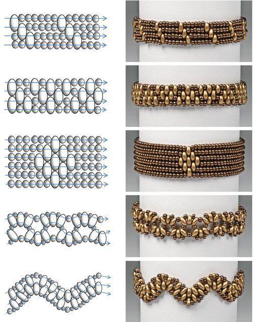 схемы плетения браслеты из бисера своими руками плетение бисером