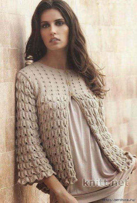 Patrones y moldes de saco de dama tricot | druty-ciuszki | Pinterest ...