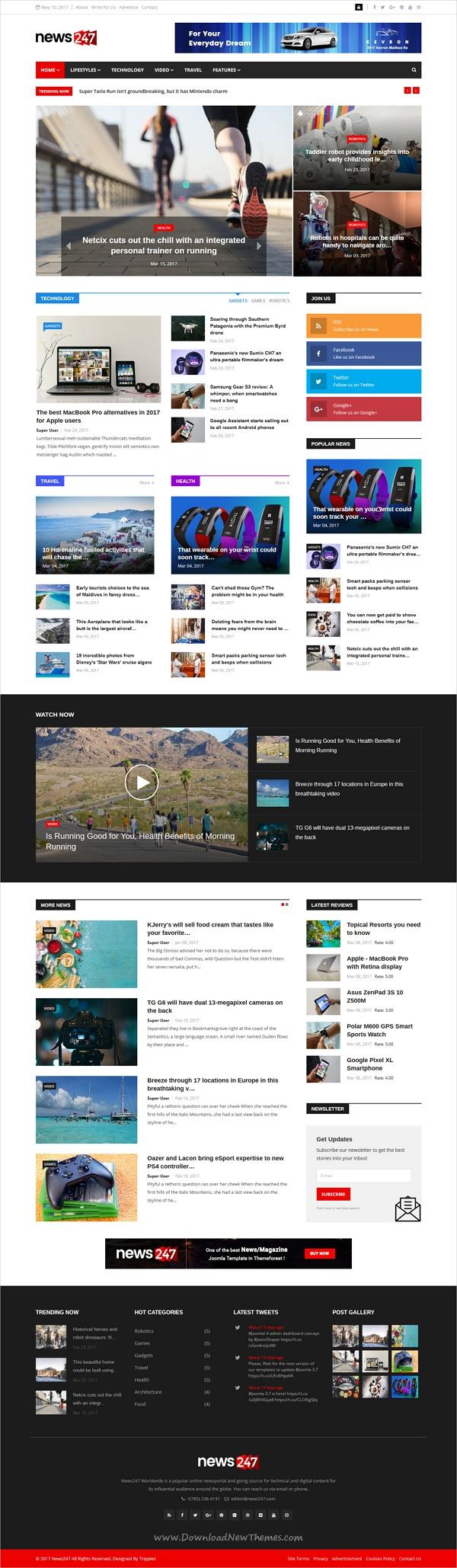 News247 Joomla Responsive News Magazine Newspaper Newspaper
