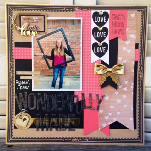 Wonderfully Made Layout- Susan Liles- Front Porch Kits- The Greatest of these is Love