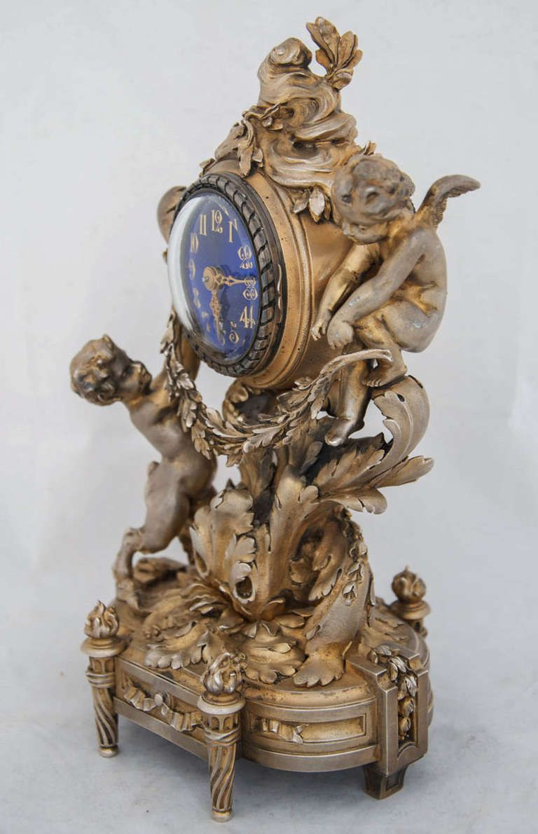 Very Fine Silver Gilt Carriage Clock by Ernest Evrot 2