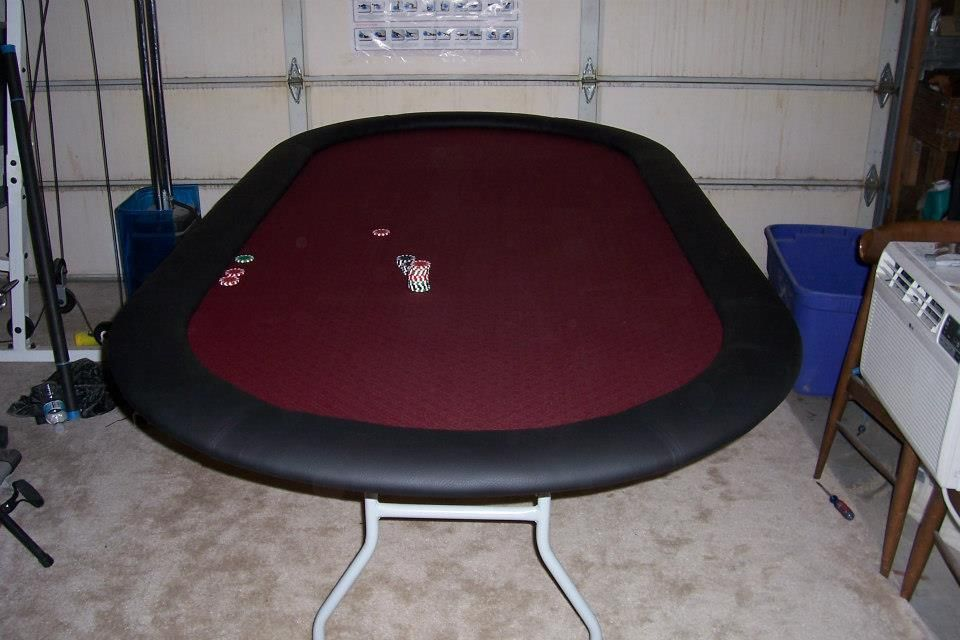 Poker table I made for Brother-in-law