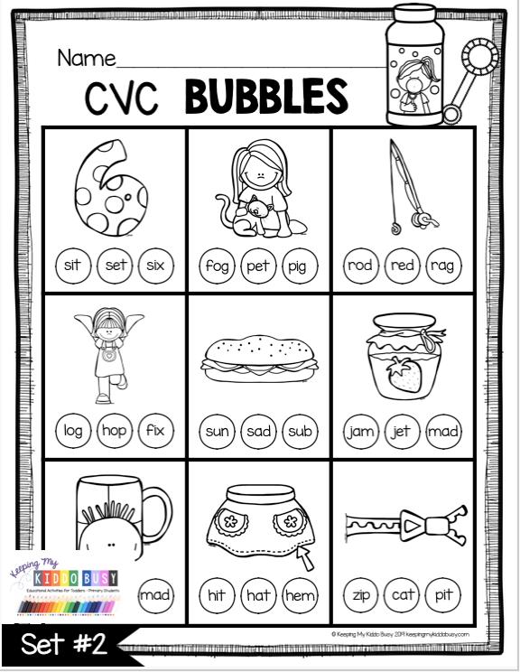 Phonics Unit 4 Cvc Words Word Families Freebie Keeping My Kiddo Busy In 2020 Cvc Words Kindergarten Cvc Worksheets Kindergarten Cvc Worksheets