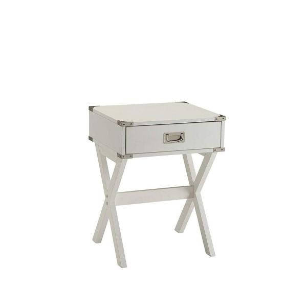 Benjara White Square End Table Bm154580 In 2020 White End Tables