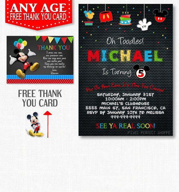 Mickey Mouse Invitation Chalkboard Mickey Mouse Invitation Miky