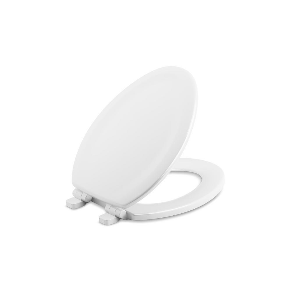 Wondrous Kohler Stonewood Elongated Closed Front Toilet Seat In White Beatyapartments Chair Design Images Beatyapartmentscom
