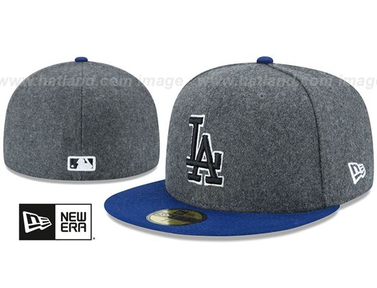 19d647b24b9 Los Angeles Dodgers Shader Melton 59Fifty Fitted Baseball Cap by NEW ERA x  MLB Best Caps
