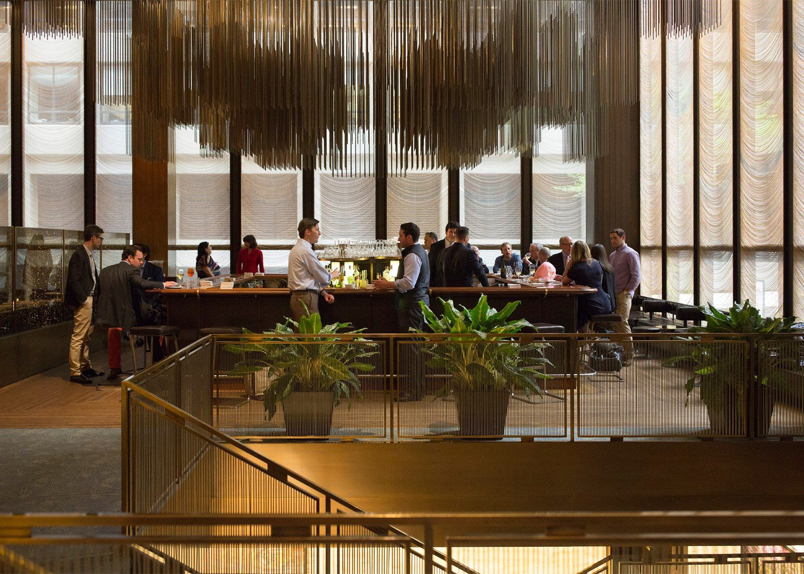 Four seasons restaurant by philip johnson and mies van der rohe furniture auction in new york city usa