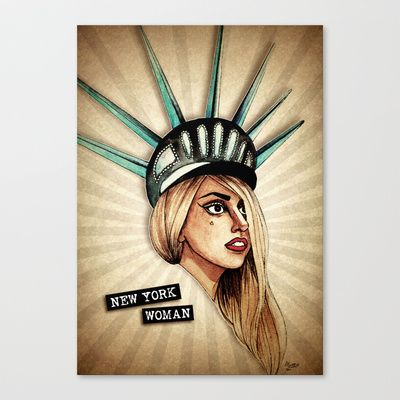New York Woman Stretched Canvas by Helen Green - $85.00