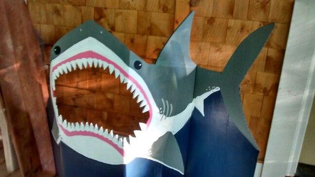 Cardboard shark cutout