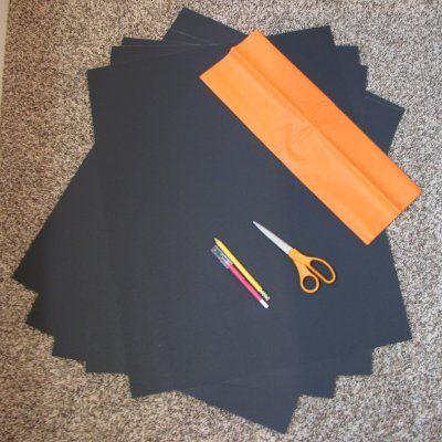 Halloween Window Decoration: Your Supply List