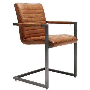cassidy freischwinger m armlehne cognac esstischstuhl st hle f rs esszimmer pinterest. Black Bedroom Furniture Sets. Home Design Ideas