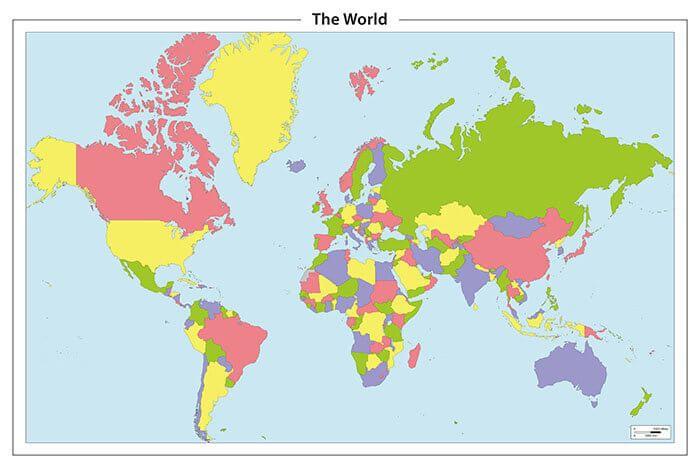Bestel hier een mooie en eenvoudige wereldkaart wereldkaart eenvoudige wereldkaart thecheapjerseys Choice Image