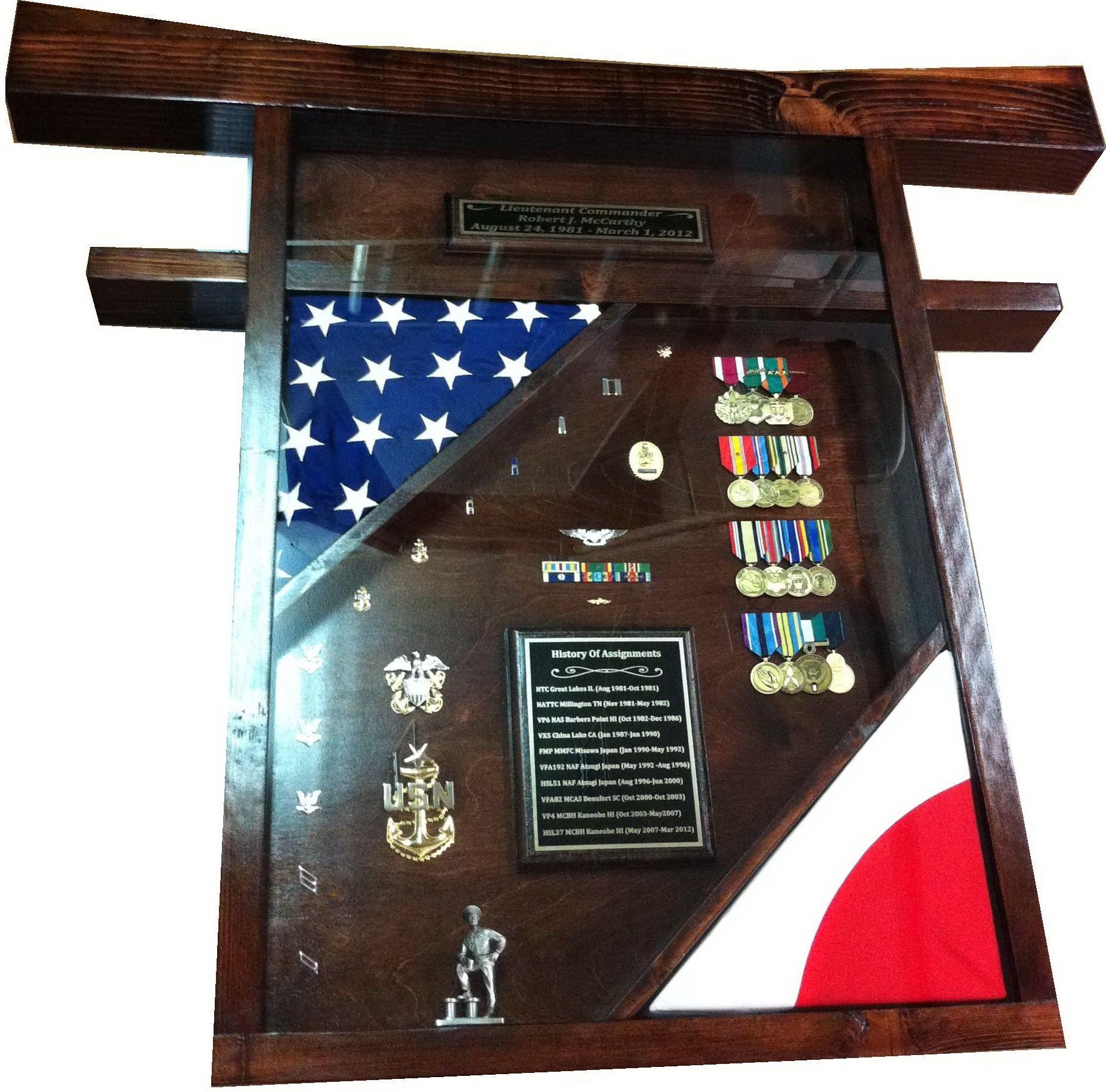 torii gate shadow box Shadow box, Military shadow box