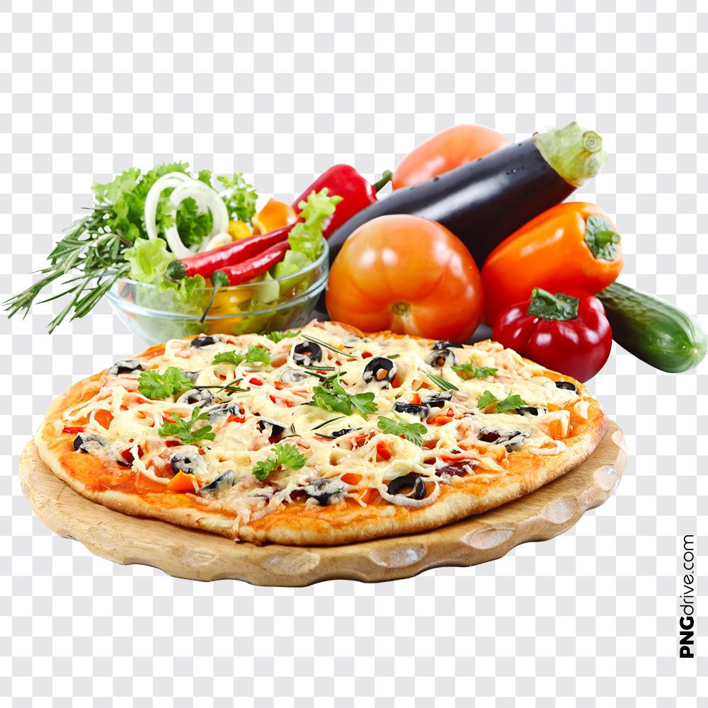 Pin By Png Drive On Pizza Png Images Vegetable Pizza Food