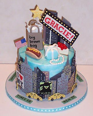 Astonishing Fabulous New York Themed Ideas City Cake Birthday Cake Nyc Birthday Cards Printable Riciscafe Filternl