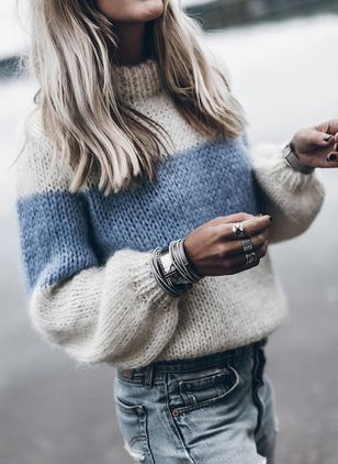 Women Long Sleeve Mohair Sweaters Knitted Knitwear Loose Blouse Shirt Tops Plus
