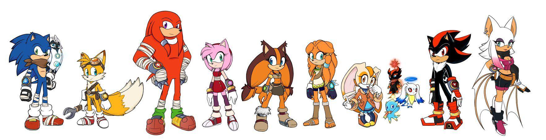 Team Sonic By Https Www Deviantart Com Spj Artredesign On Deviantart Sonic Sonic Fan Art Sonic Art