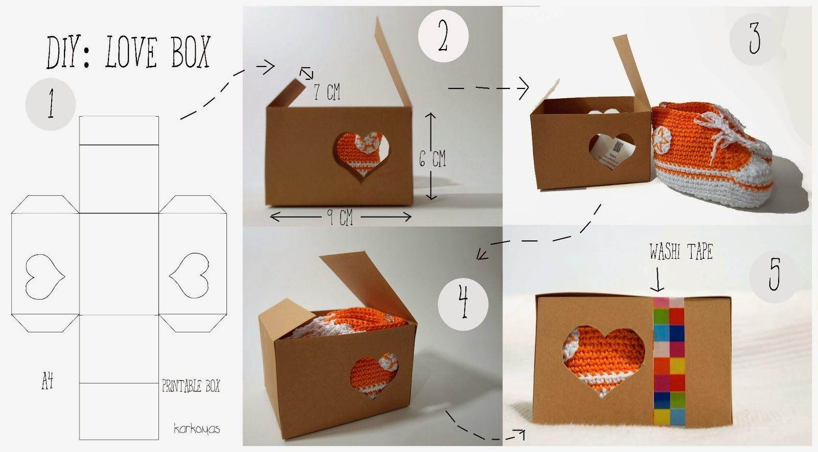 Como hacer Cajas sencillas para Regalos - enrHedando