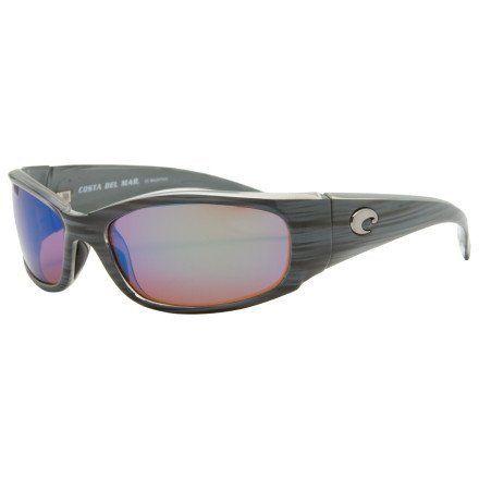15af26a7754cb Costa Del Mar Hammerhead Polarized Sunglasses - Costa 580 Glass Lens Silver  Teak Green Mirror