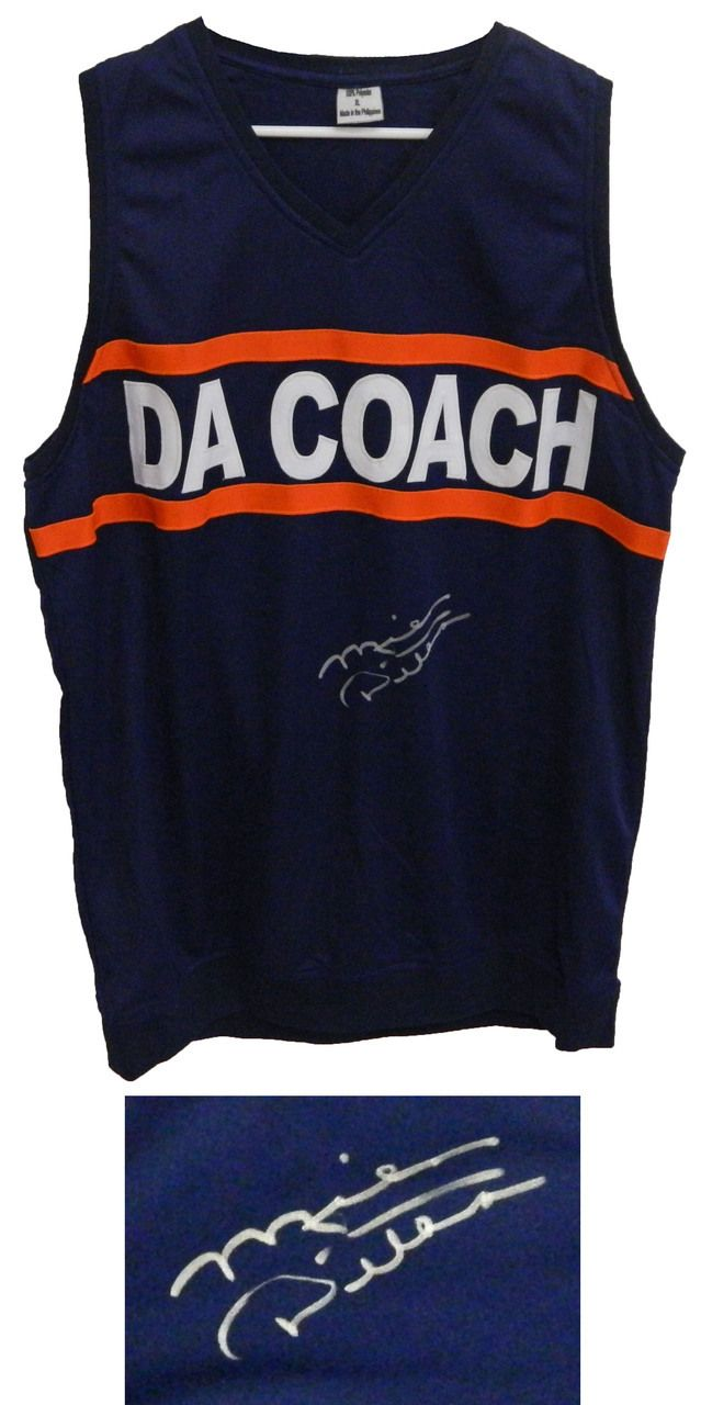 Mike Ditka Signed Da Coach Navy Coaching Sweater Vest Schwartz