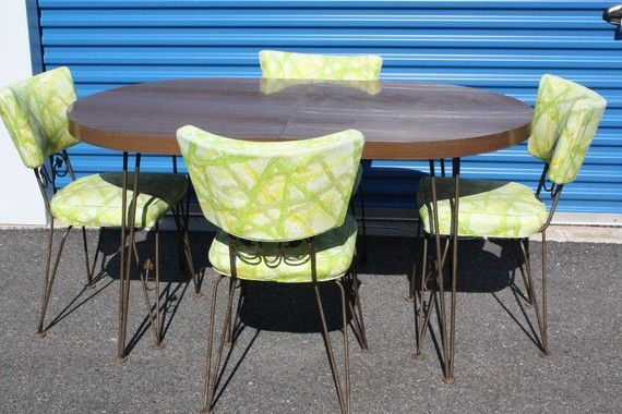1960's kitchen table with 4 chairs | chairs/tables | pinterest