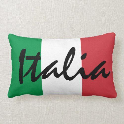 Personalized Italia Italian Flag Lumbar Pillow Zazzle Com Pillows Lumbar Pillow Italian Flag