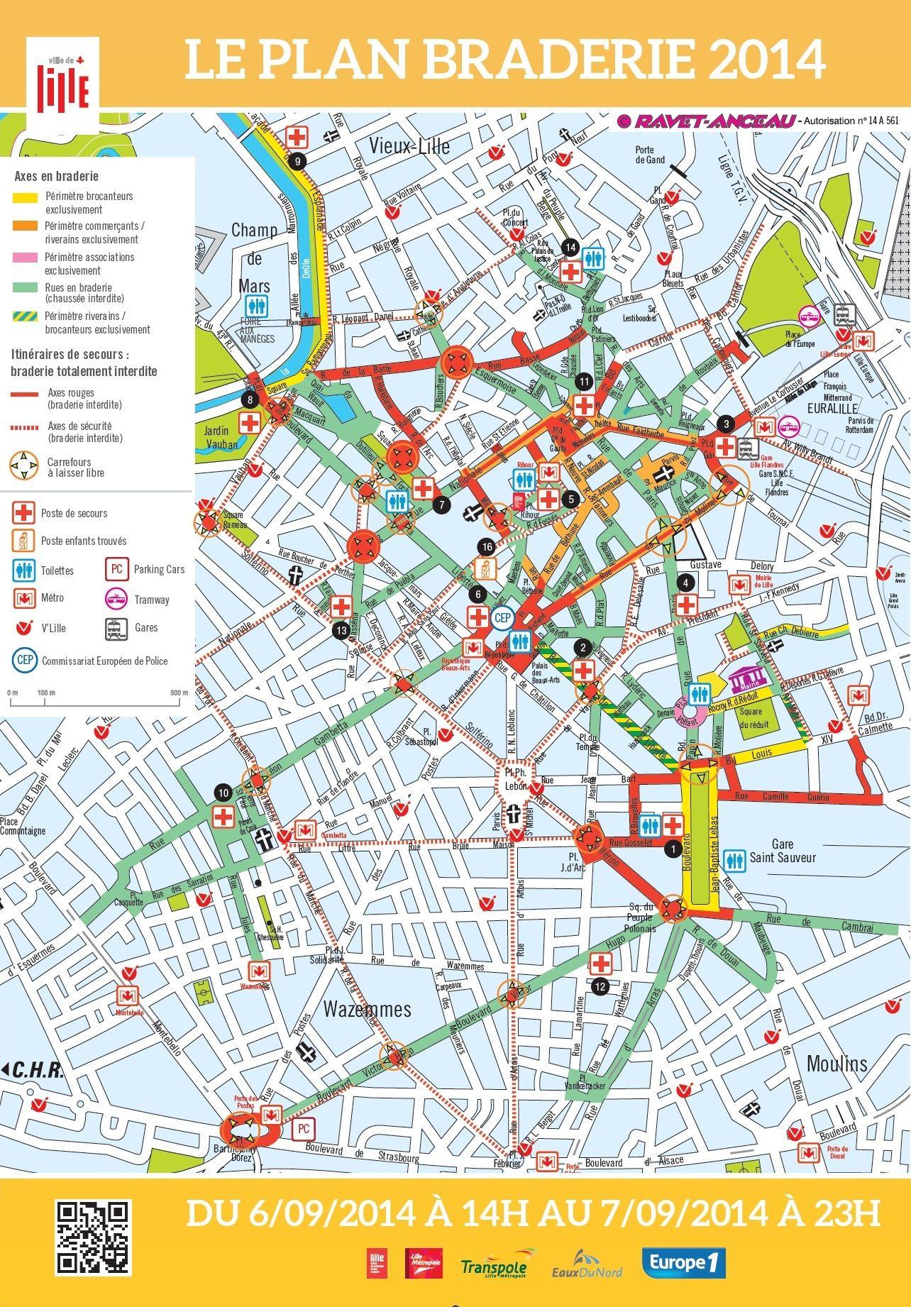 plan-braderie-de-lille-2013-770x433 | Flea Markets | Pinterest ...