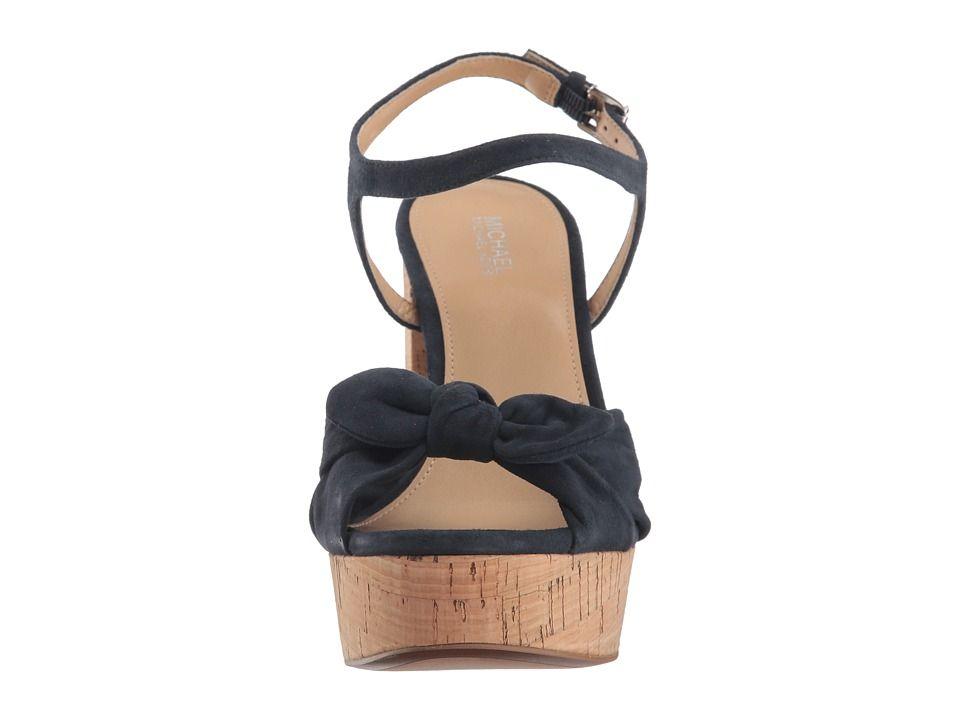 389650a907 MICHAEL Michael Kors Pippa Platform Women's Sandals Admiral Kid Suede/Cork