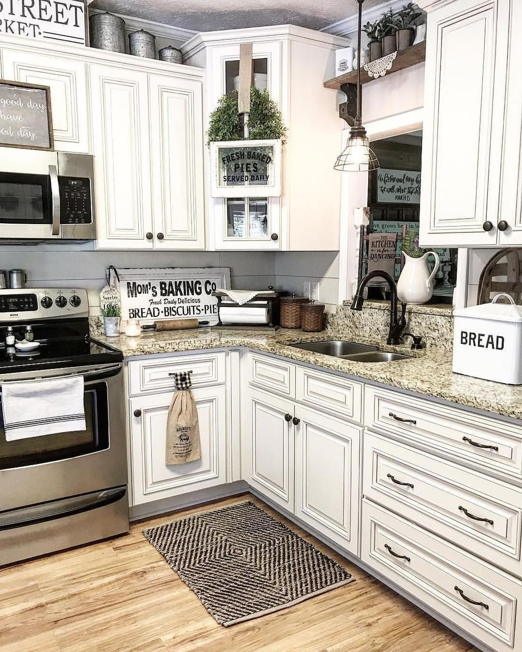 20 Creative And Innovative Kitchen Backsplash Decor Ideas Kitchen Cabinets Decor Farmhouse Kitchen Remodel Above Kitchen Cabinets