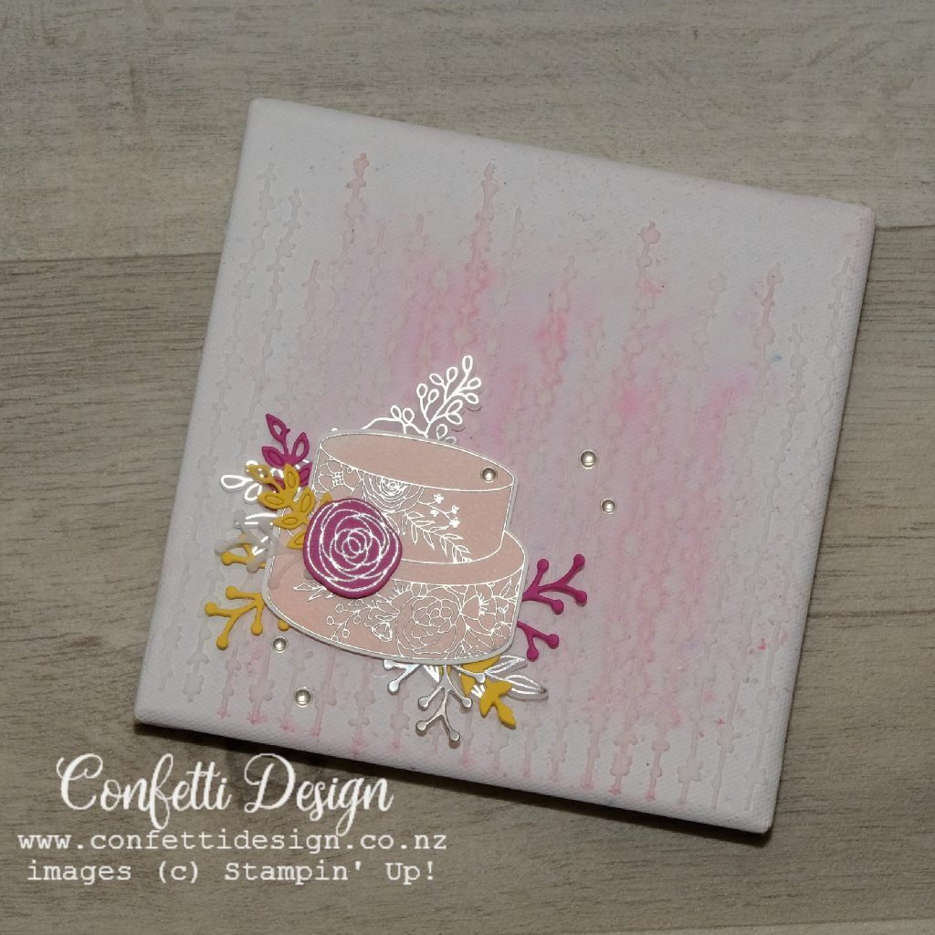 Paper Art Canvas Best wishes card, Beautiful handmade