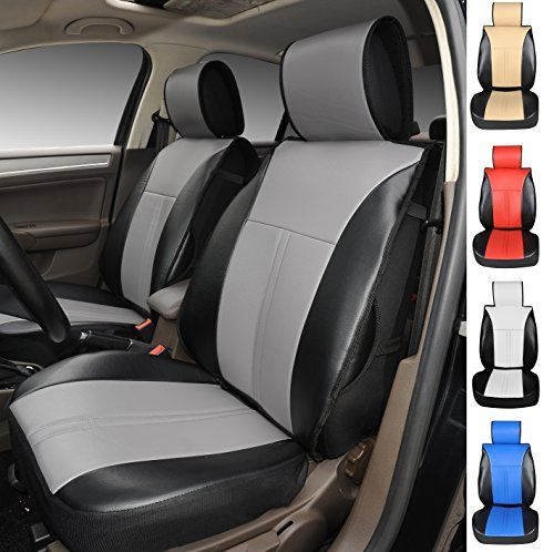 120904S BlackGrey 2 Front Car Seat Cover Cushions Leather Like Vinyl Compatible To Honda Pilot Odyssey CRV 20172007 You Can Find More Details