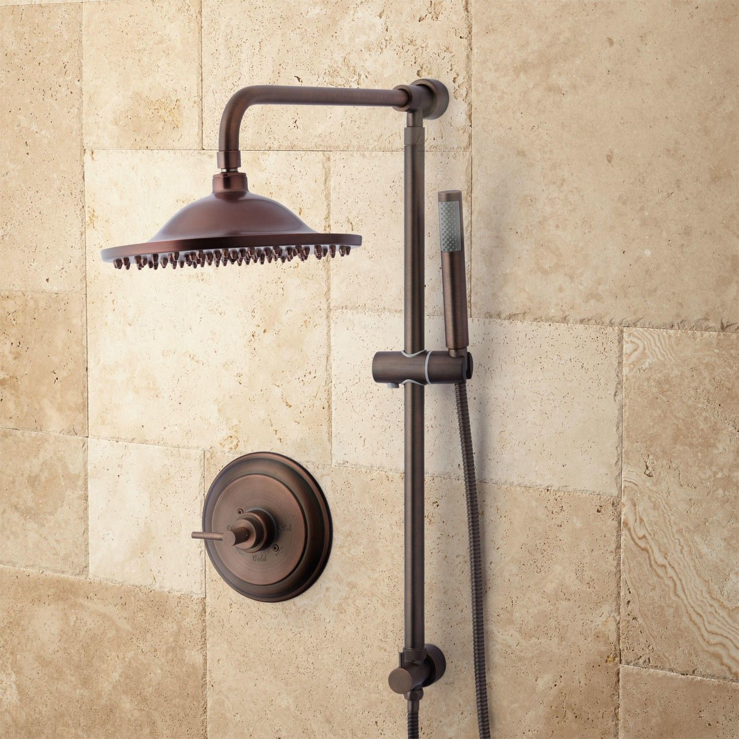 Bostonian Rainfall Nozzle Shower System - Hand Shower & Mixing Valve ...