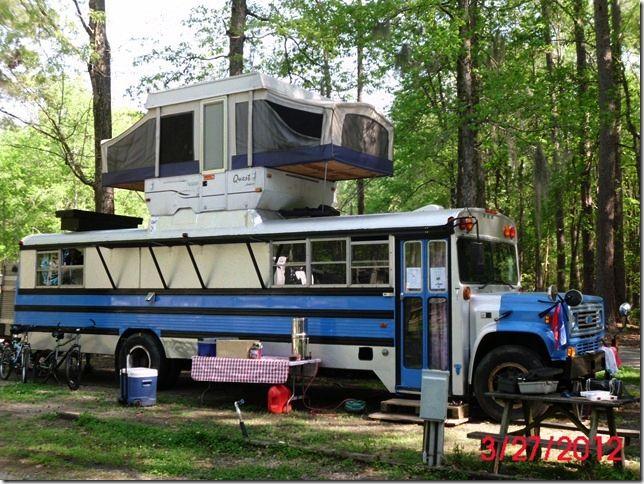 Weird Rvs Flying Bridge Rv Nope Flying Pop Up Cool Campers School Bus Camper Bus Living