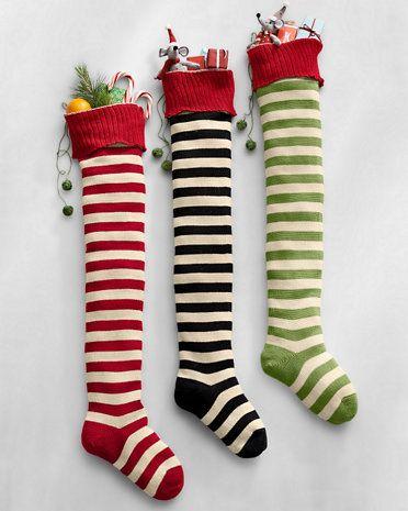 Striped Holiday Stocking | Xmas Stockings | Pinterest | Xmas ...