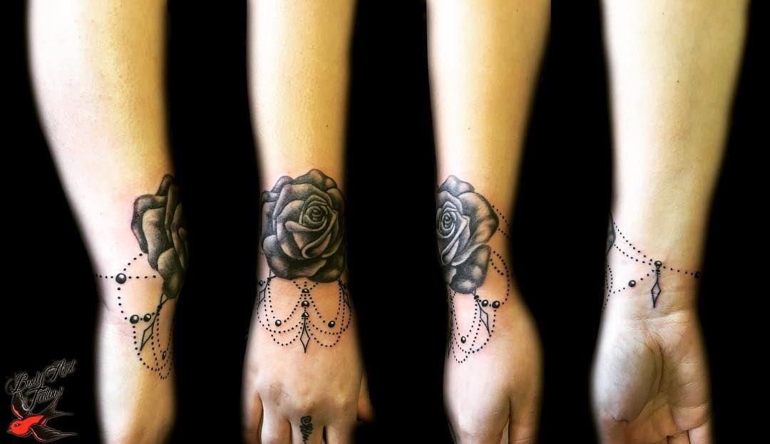 Ornamental Rose Bracelet Tattoo Tattoo Bracelet Wrist Bracelet Tattoo Bracelet Tattoo For Man