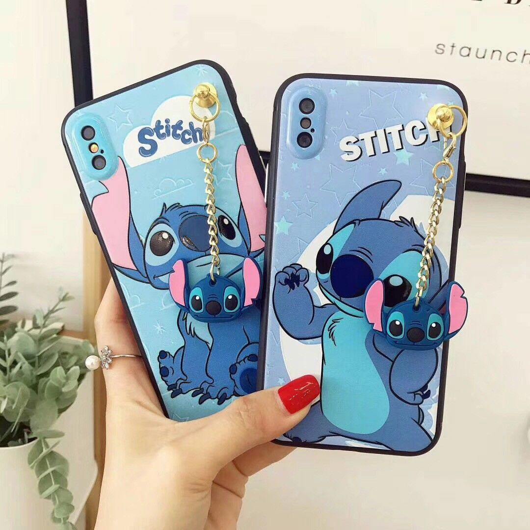 Fashion Cartoon Stitch Pendant Soft Phone Case Cover For Iphone 6 6s 7 8 X Plus Disney Phone Cases Cute Phone Cases Phone Cases
