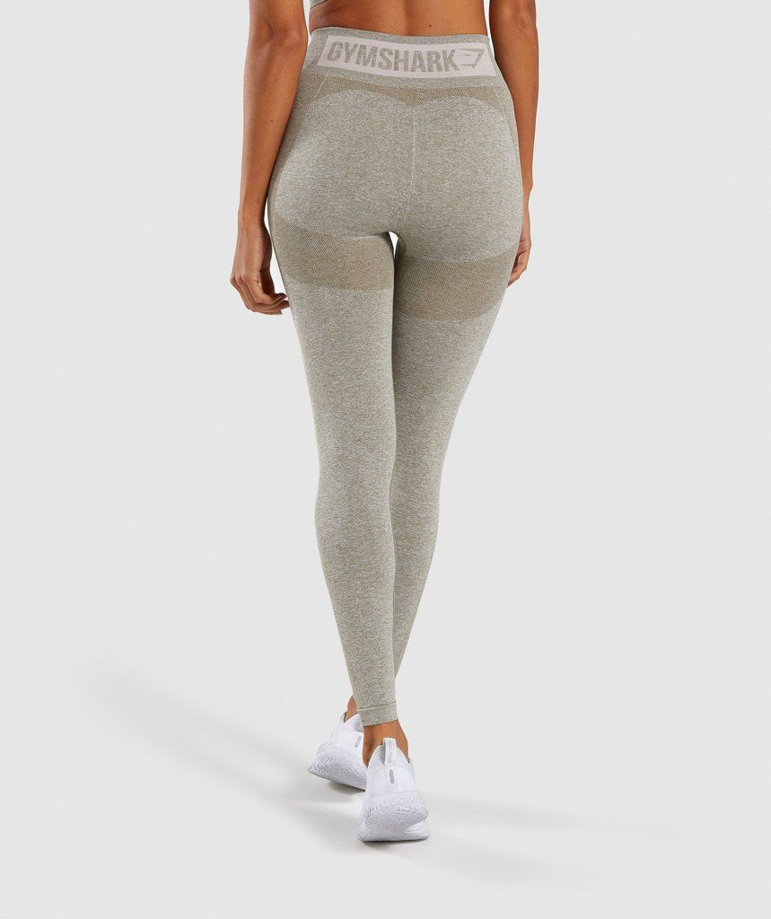 161a7ec3e59f5 Gymshark Flex High Waisted Leggings - Washed Khaki Marl/Blush Nude | All  Products | Gymshark