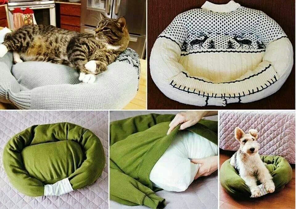 From sweater to dog bed
