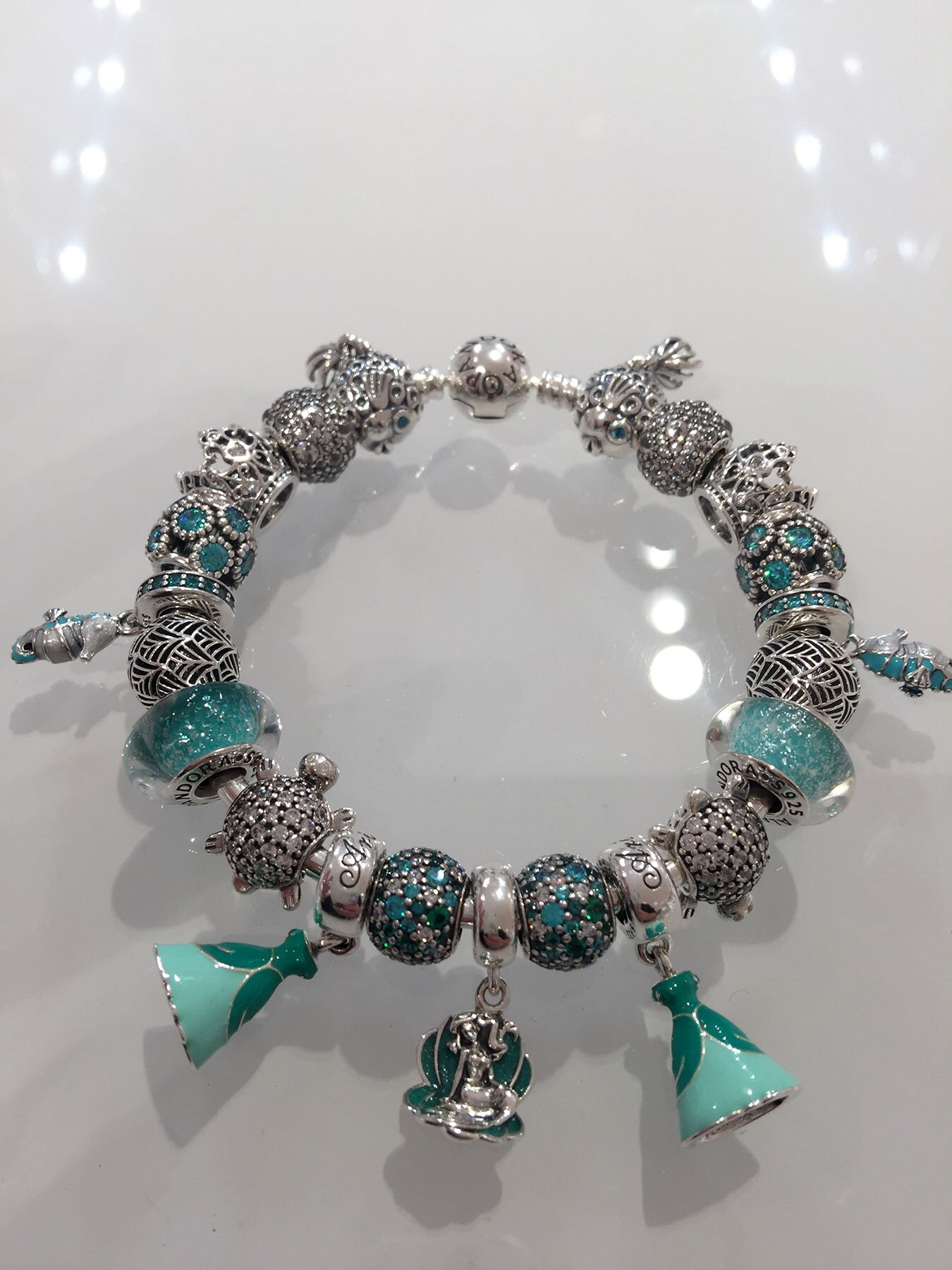 bbcd0f18986 Ariel inspired Pandora Bracelet | Pandora Jewelry | Pandora, Pandora ...