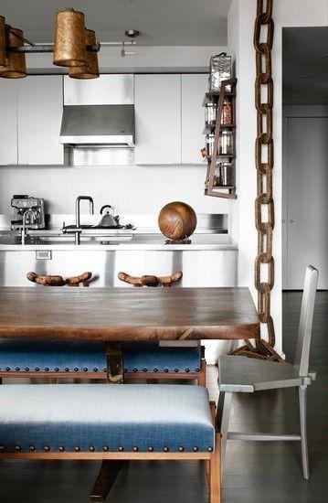 Cocinas sin barreras dise o de cocinas diferentes for Mesas y sillas de cocina de diseno