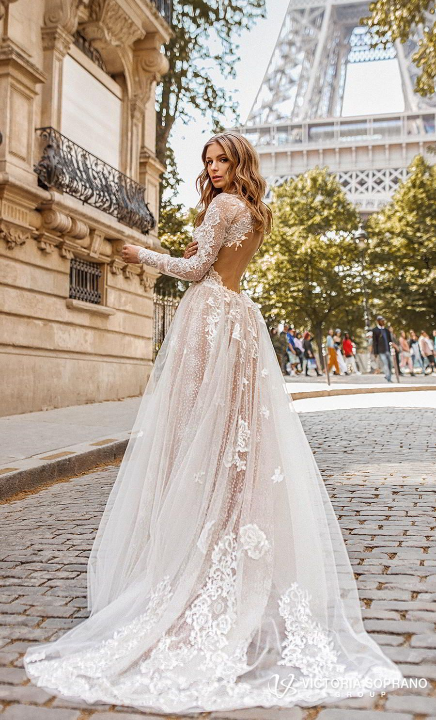 These Victoria Soprano Wedding Dresses Will Make You Swoon 2019 Love In Paris Bridal Collection Wedding Inspirasi Best Wedding Dresses Wedding Dresses Lace Dream Wedding Dresses [ 1485 x 900 Pixel ]