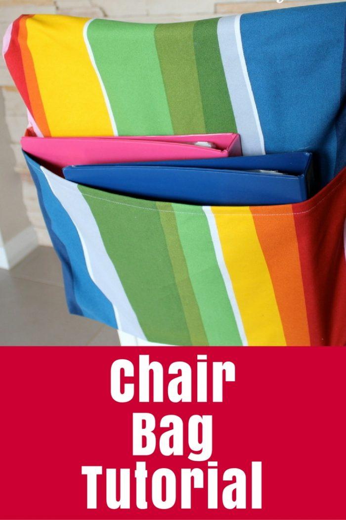 Chair Bag Tutorial   Diy bags for school, School chair ...