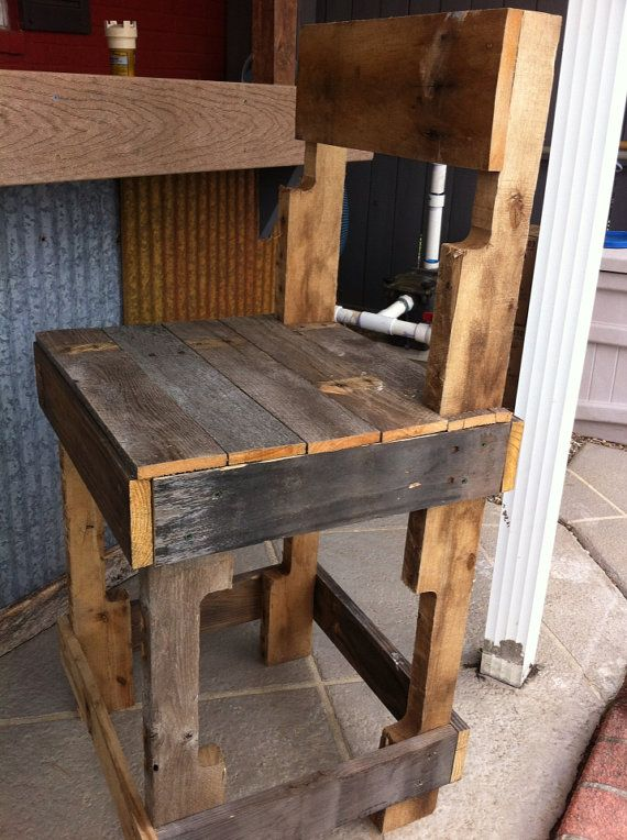 Rustic bar stools or kitchen island stools made by therusticbend garden diy outdoors Rustic outdoor bar stools