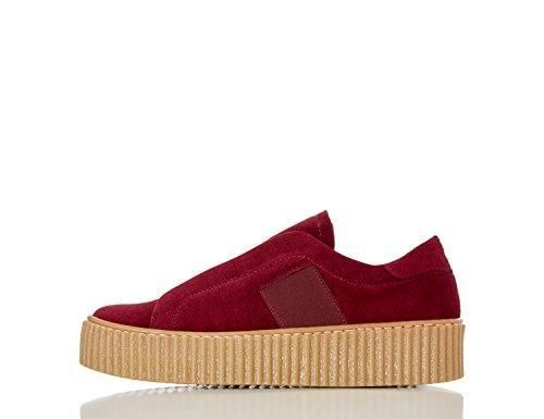 Find, Zapatillas con Plataforma Mujer, Rojo (Red), 38 EU