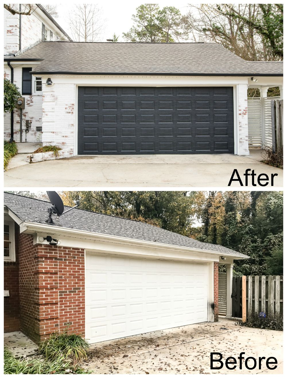 Limewashed Brick Exterior Makeover Reveal Brick Exterior
