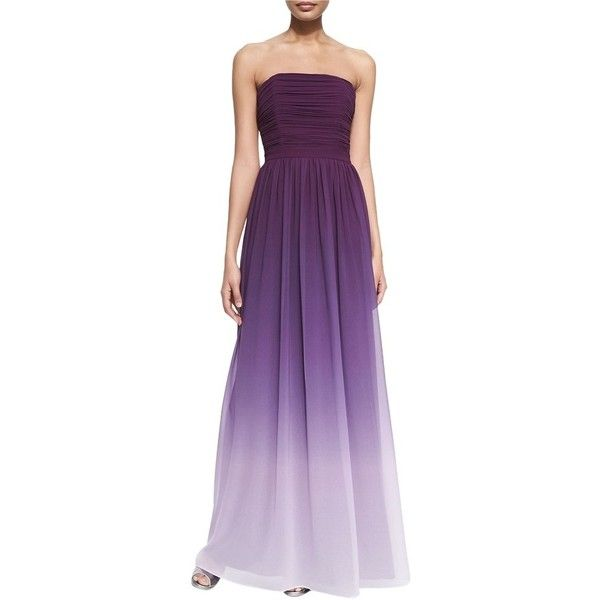 Pre-owned Erin Fetherston Purple Erin Isabelle Strapless Ruched ...
