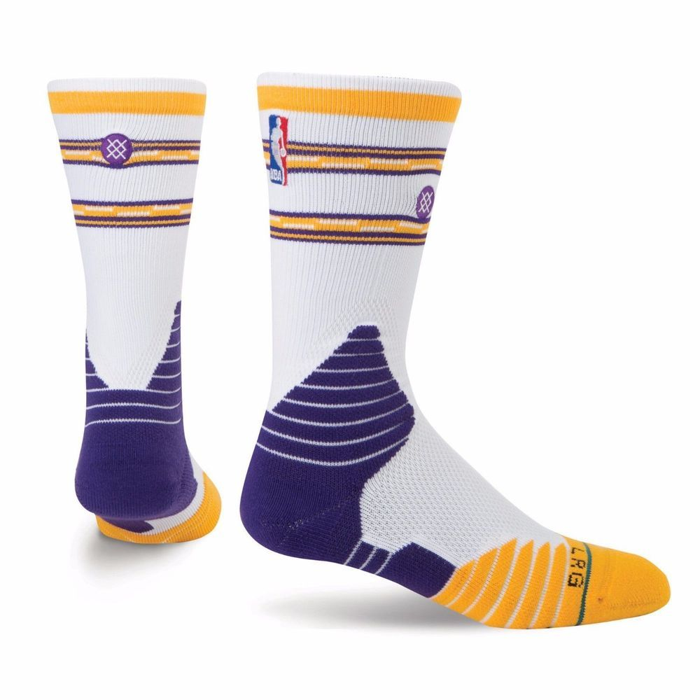 f3d4cde421a Stance NBA Los Angeles Lakers Core Crew Sock Size 9-12 Large HTF ...