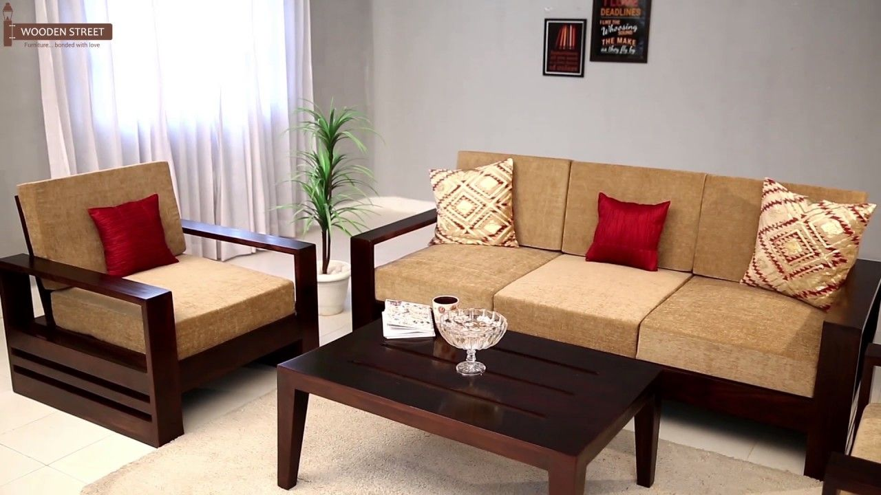 Wooden Sofa Set In 2020 Wooden Sofa Set Wooden Sofa Designs Sofa Design