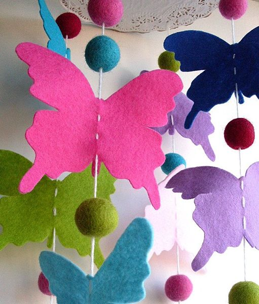 Felt Butterfly How-To